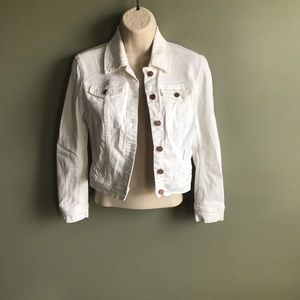 Blank NYC white denim jacket